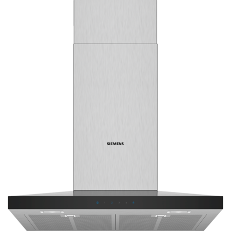 Siemens LC67QFM50B 60cm Low Profile Pyramid Style Chimney Cooker Hood - Stainless Steel