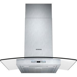 Siemens LC68GB542B 60cm Chimney Cooker Hood With Curved Glass Canopy Stainless Steel