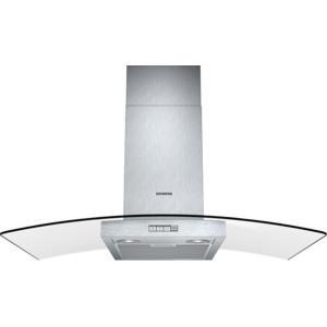 Siemens LC94GB522B 90cm Stainless Steel Chimney Cooker Hood With Curved Glass Canopy