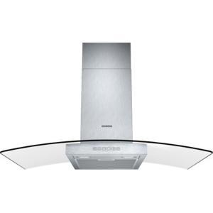 Siemens LC97GB532B iQ300 Stainless Steel 90cm Chimney Cooker Hood With Curved Glass Canopy