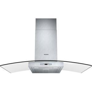 Siemens LC98GB542B iQ500 Stainless Steel 90cm Chimney Cooker Hood With Curved Glass Canopy