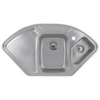 Astracast LD15XXHOMESK1 Lausanne 1.5 Bowl Left Hand Drainer Polished Stainless Steel Corner Sink