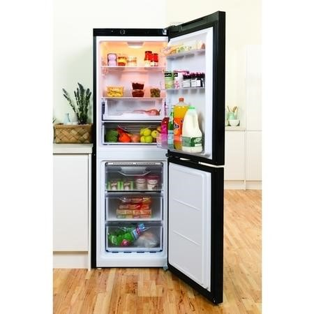 Indesit LD70N1K 178x60cm 278 Litre Freestanding Fridge Freezer - Black