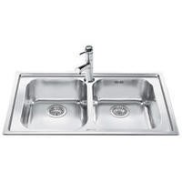 Smeg LE862-2 Rigae Double Bowl Inset Stainless Steel Sink