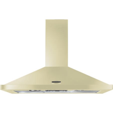 Rangemaster 110cm Chimney Cooker Hood Cream With Chrome Badge