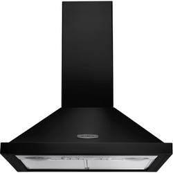Rangemaster LEIHDC60BC 63091 60cm Chimney Cooker Hood Black With Chrome Badge