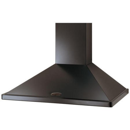 Rangemaster LEIHDC90BB 68020 90cm Chimney Cooker Hood Black With Brass Badge