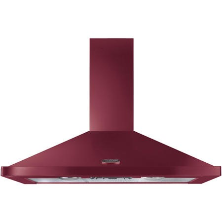 Rangemaster LEIHDC90CYC 95590 90cm Chimney Cooker Hood Cranberry and Chrome