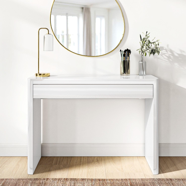 Modern White High Gloss Dressing Table Console Vanity Bedroom Furniture Ebay