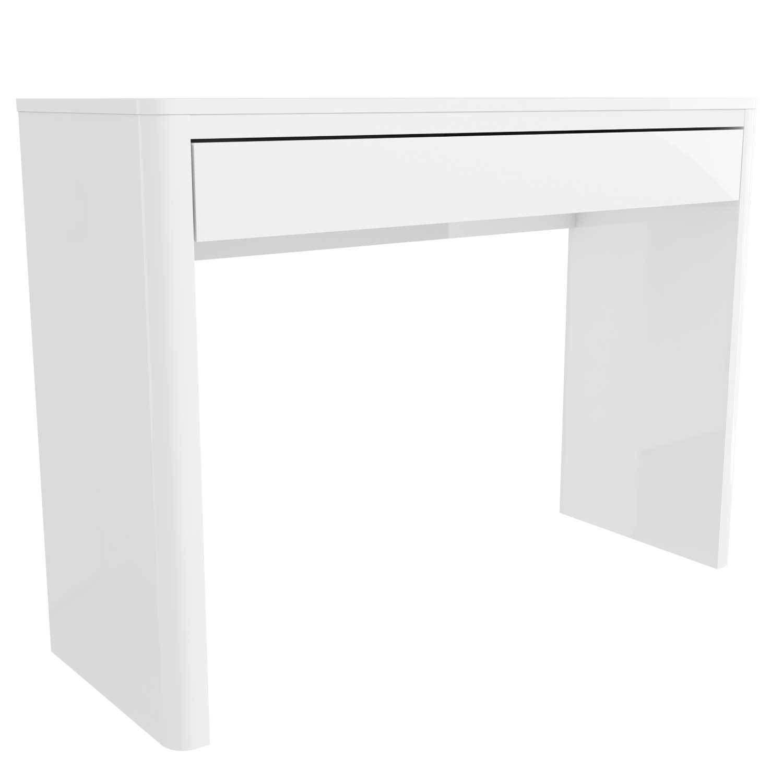 Modern white high gloss dressing tableconsole tablehallway table modern white high gloss dressing table console table geotapseo Gallery