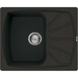 GRADE A3 - Reginox LIVING125-B 1.0 Bowl Regi-Granite Composite Sink With Compact Reversible Drainer Metaltek Bl