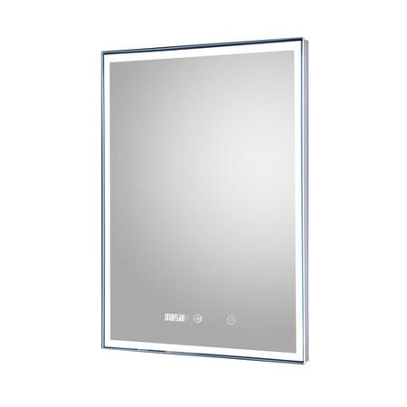 Libra Bathroom Mirror With Digital Clock and LED Light