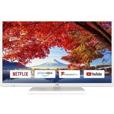 "GRADE A2 - JVC LT-32C671 32"" HD Ready Smart LED TV with 1 Year Warranty - White"