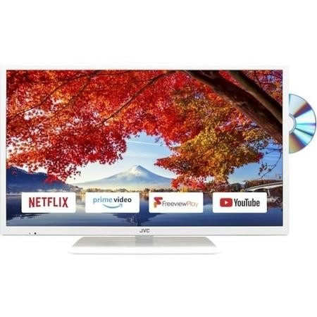 "GRADE A1 - JVC LT-32C696 32"" HD Ready Smart LED TV and DVD Combi with 1 Year Warranty - White"