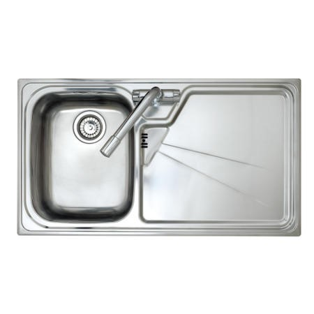 Astracast LU10XXHOMESKR Lausanne Single Bowl Right Hand Drainer Stainless Steel Sink