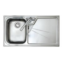 Astracast LU10XXHOMEPKL5 Lausanne Single Bowl Left Hand Drainer Stainless Steel Sink