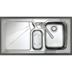 Astracast LU15XXHOMEPKL5 Lausanne 1.5 Bowl Left Hand Drainer Stainless Steel Sink with Accessories