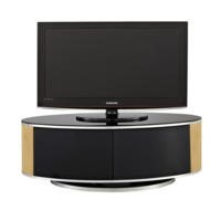 MDA Designs Luna Black and Oak TV Cabinet up to 50 inch