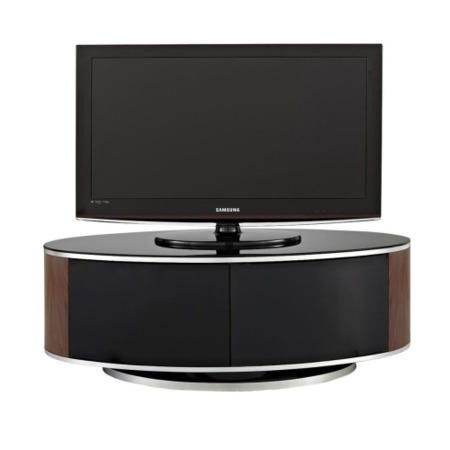 MDA Designs Luna black and walnut TV Cabinet up to 50 inch