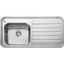Leisure Sinks LX105R Luxe Stainless Steel 1000x500 1.0 Bowl Right Hand Drainer 1 Taphole Including P