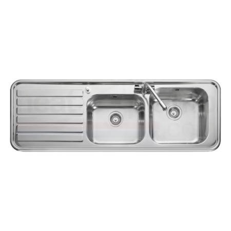 Leisure Sinks LX155L Luxe Stainless Steel 1500x500 2.0 Bowl 1 Left Hand Drainer 1 Taphole Including