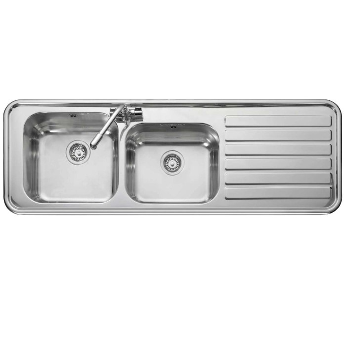 Leisure Sinks LX155R Luxe Stainless Steel 1500x500 2.0 Bowl 1 Right ...