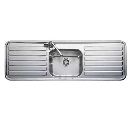 Leisure Sinks LX155 Luxe Stainless Steel 1500x500 1.0 Bowl 2 Drainer 1 Taphole Including Popup Waste