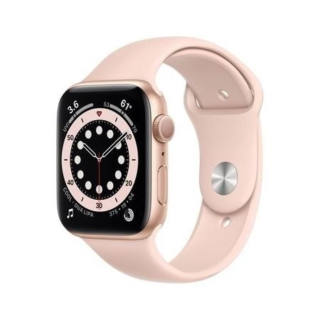 Apple Watch Series 6 GPS - 44mm Gold Aluminium Case with Pink Sand Sport Band - Regular