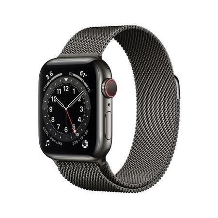 Apple Watch Series 6 GPS + Cellular - 40mm Graphite Stainless Steel Case with Graphite Milanese Loop