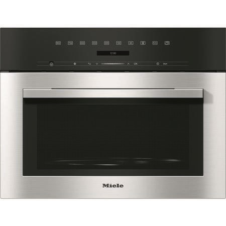 Miele M7140TC 900W 26L Touch Control Built-in Microwave Oven - Clean Steel