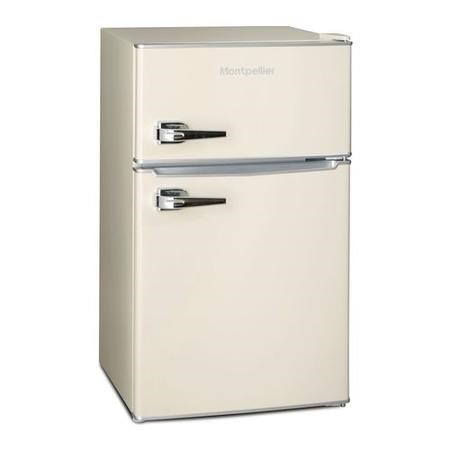 Montpellier MAB2030C Mini Retro Freestanding Under Counter Fridge Freezer - Cream