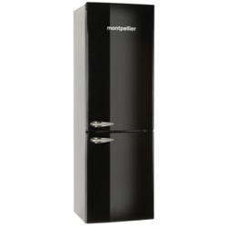 Montpellier MAB365K Retro Freestanding Fridge Freezer Black