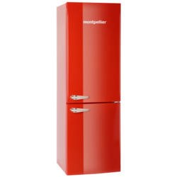 Montpellier MAB365R Retro Freestanding Fridge Freezer Red