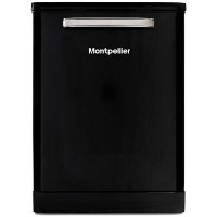 Montpellier MAB600K 15 Place Freestanding Retro Dishwasher With Cutlery Tray - Black Best Price, Cheapest Prices