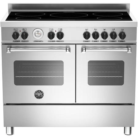 Bertazzoni MAS100-5I-MFE-D-XE Master Series 100cm Electric Range Cooker with Induction Hob - Stainless Steel