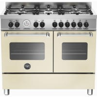 Bertazzoni MAS100-6-MFE-D-CRE Master 100cm Dual Fuel Range Cooker With 6 Burners And 2 Ovens Matt Cr