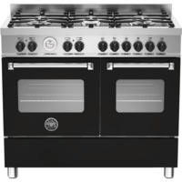 Bertazzoni MAS100-6-MFE-D-NEE Master 100cm Dual Fuel Range Cooker With 6 Burners And 2 Ovens Matt Bl