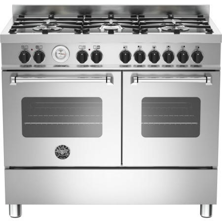 Bertazzoni MAS100-6-MFE-D-XE Master 100cm Dual Fuel Range Cooker With 6 Burners And 2 Ovens Stainles