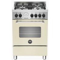 Bertazzoni MAS60-4-MFE-S-CRE Master 60cm Dual Fuel Cooker With 4 Burners And 1 Oven Matt Cream