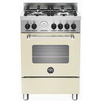 Bertazzoni MAS60-4-MFE-S-CRE Master 60cm Dual Fuel Cooker With 4 Burners And 1 Oven Matt Cream