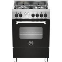 Bertazzoni MAS60-4-MFE-S-NEE Master 60cm Dual Fuel Cooker With 4 Burners And 1 Oven Matt Black