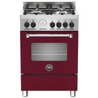 Bertazzoni MAS60-4-MFE-S-VIE Master 60cm Dual Fuel Cooker With 4 Burners And 1 Oven Matt Burgundy