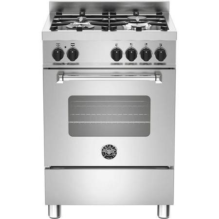 Bertazzoni MAS60-4-MFE-S-XE Master Series 60cm Single Oven Dual Fuel Cooker -Stainless Steel