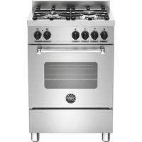 Bertazzoni MAS60-4-MFE-S-XE Master Series 60cm Dual Fuel Cooker With A Single Oven-Stainless Steel