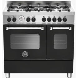 Bertazzoni MAS90-5-MFE-D-NEE Master 90cm Dual Fuel Range Cooker With 5 Burners And 2 Ovens Matt Blac
