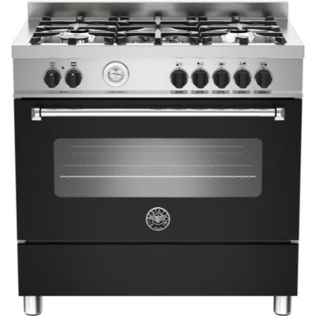 Bertazzoni MAS90-5-MFE-S-NEE Master Series 90cm Dual Fuel Range Cooker With A Single Oven-Matt Black