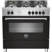 Bertazzoni MAS90-5-MFE-S-NEE Master 90cm Dual Fuel Range Cooker With 5 Burners And 1 Oven Matt Black