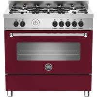 Bertazzoni MAS90-5-MFE-S-VIE Master 90cm Dual Fuel Range Cooker With 5 Burners And 1 Oven Matt Burgu