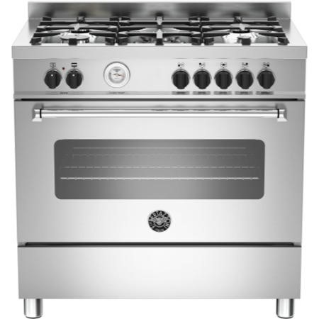 Bertazzoni MAS90-5-MFE-S-XE Master Series 90cm Dual Fuel Range Cooker With A Single Oven-Stainless S