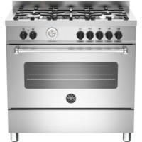 Bertazzoni MAS90-5-MFE-S-XE Master 90cm Dual Fuel Range Cooker With 5 Burners And 1 Oven Stainless S